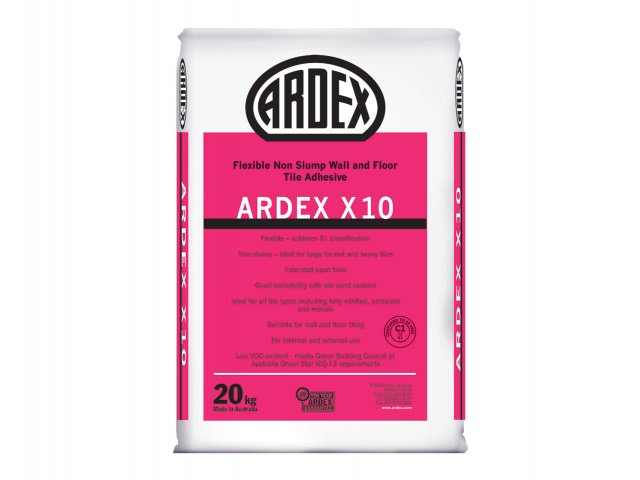 ARDEX X 10 - Flexible, Non-Slump, Wall and Floor Tile Adhesive