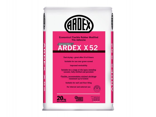 ARDEX X 52 - Economical, Flexible, Rubber-Modified Tile Adhesive