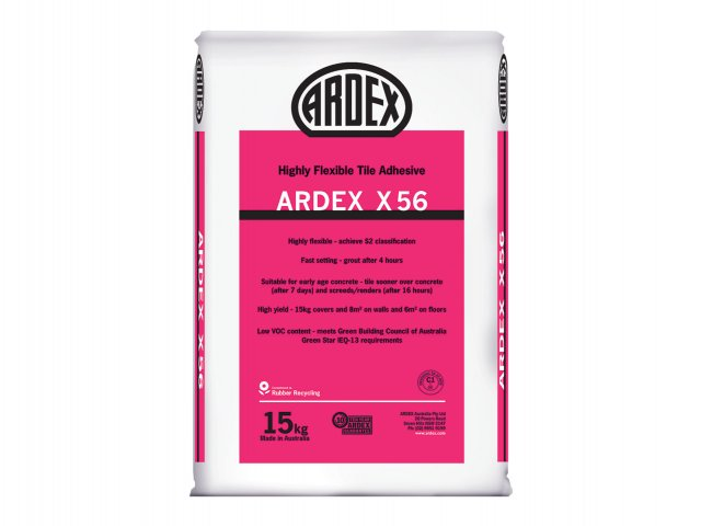 ARDEX X 56 - Highly Flexible, Rubber Modified Tile Adhesive