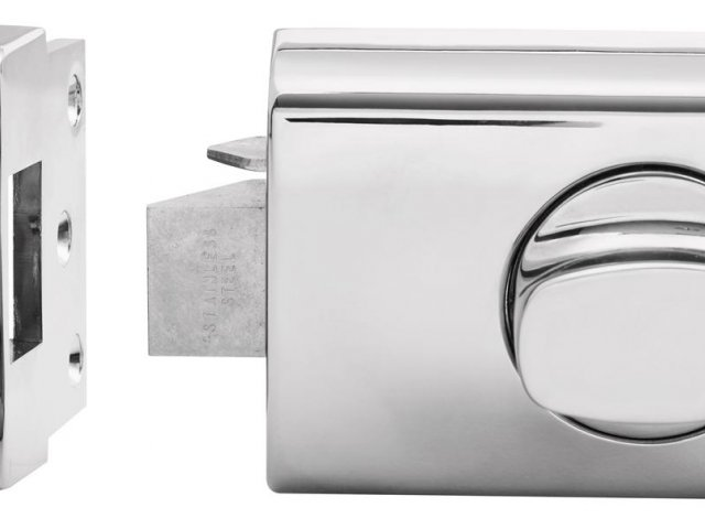 Lockwood Nightlatches: 002 Single Cylinder Deadlatch