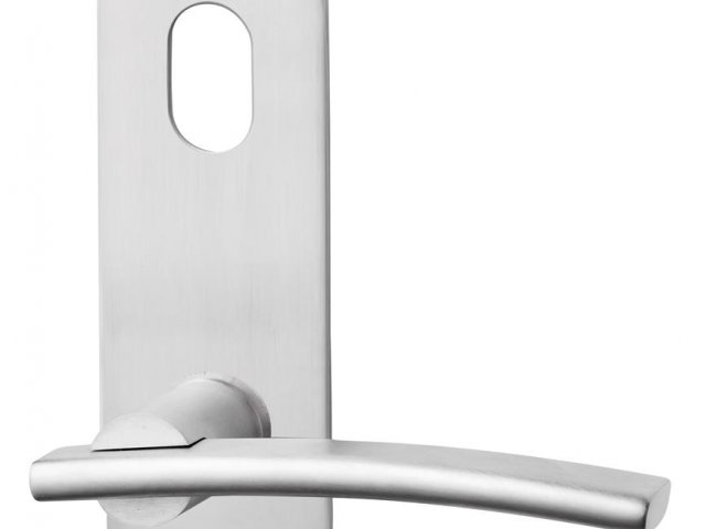Lockwood Lever & Push/Pull Furniture: Artefact Range 212 Series Oval Plate