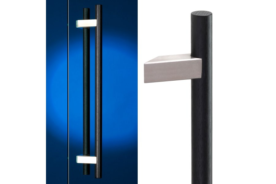 Madinoz Offset Timber Entry Handles By Dormakaba Eboss