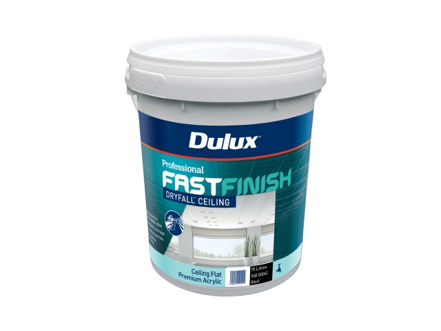 Dulux Professional Fast Finish Dry Fall Ceiling Black Flat