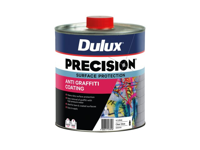 Dulux Precision Anti Graffiti Coating Gloss on New Masonry