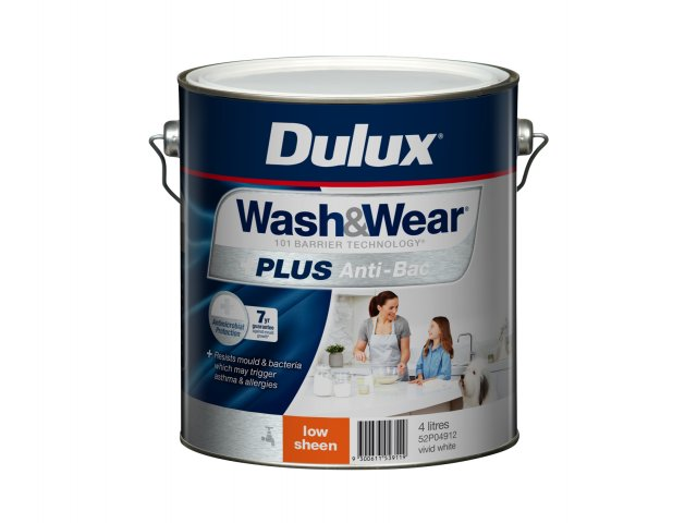 Dulux Wash&Wear +PLUS Anti-Bac Low Sheen