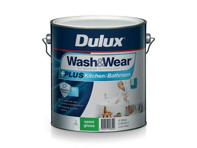 Dulux Wash&Wear +PLUS Kitchen&Bathroom Semi Gloss