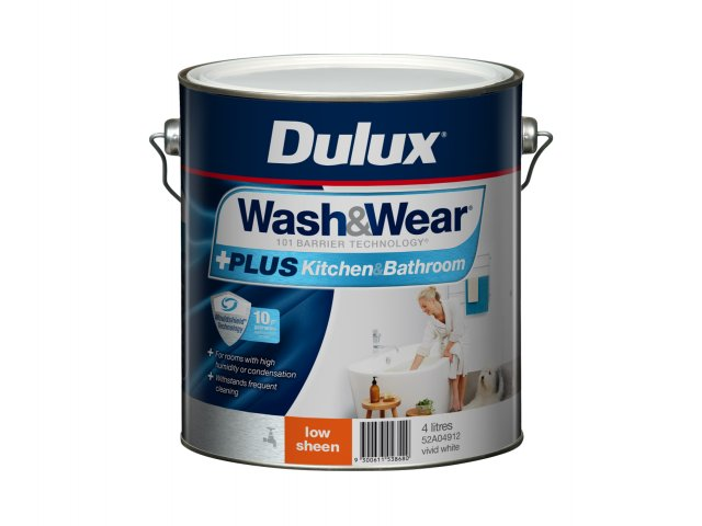 Dulux Wash&Wear +PLUS Kitchen&Bathroom Low Sheen