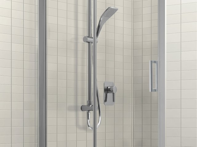 Studio Glide Alcove Sliding Shower Tile Option