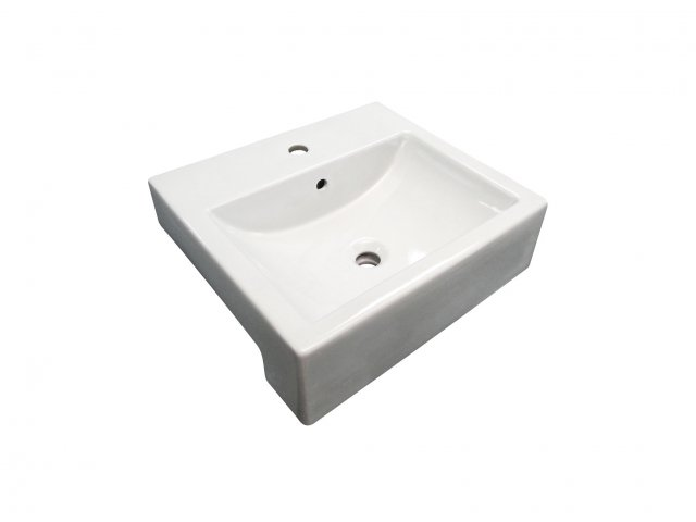 Milano Semi-Recessed Basin Square