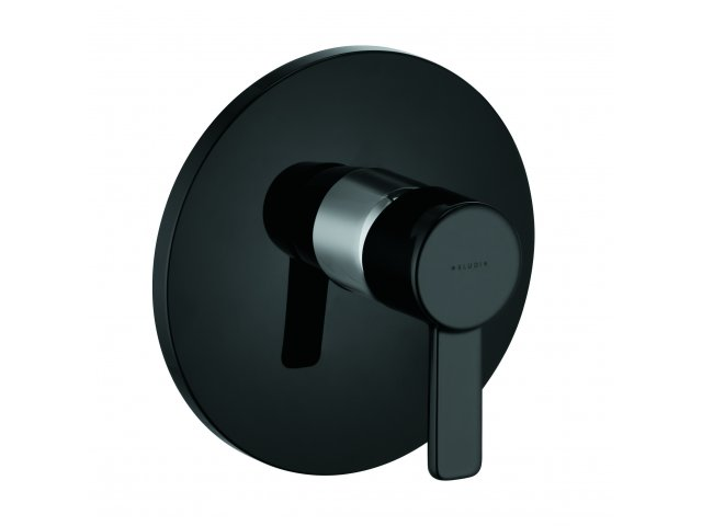 Zenta Shower Mixer Black & Chrome
