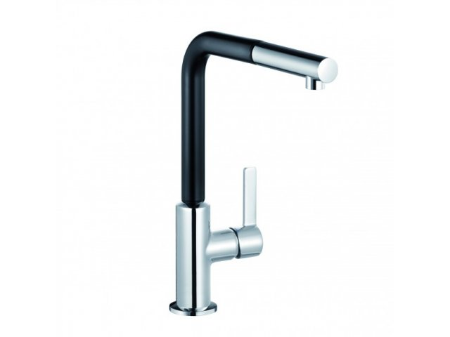 L-ine S Pullout Sink Mixer Black & Chrome
