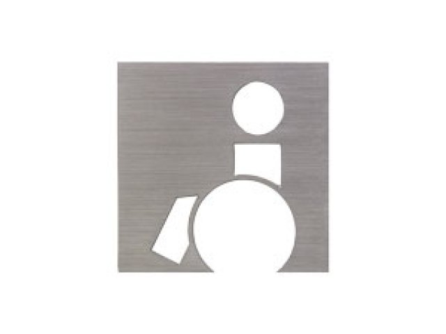 Stainless Steel Sign-Disabled