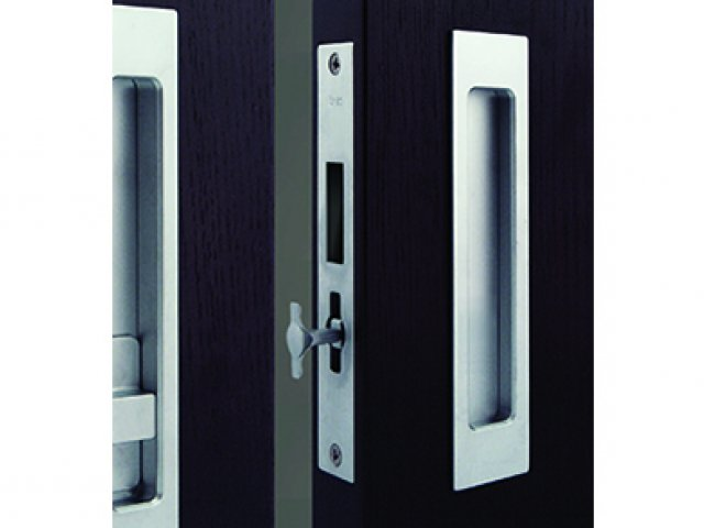 HB 697 Pocket Door Strike Body with Integrated Edge Pull