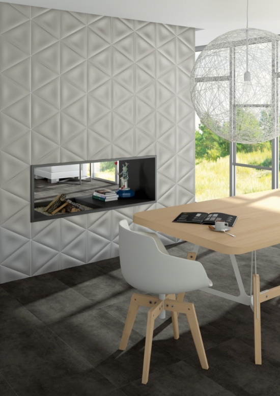 Elvida 3d Triangular Shaped Tiles By Vives Ceramica By