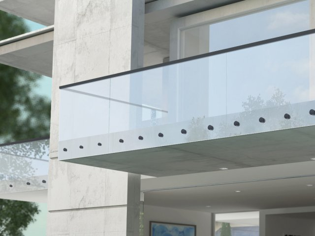 Edgetec Single Disc Anchor Balustrade