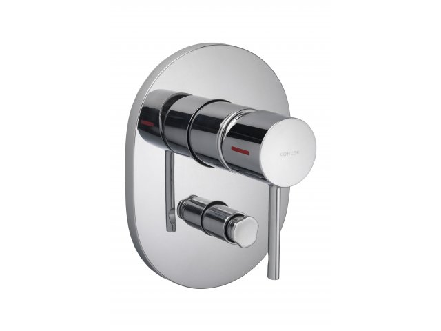 Cuff Shower and Bath Mixer with Diverter