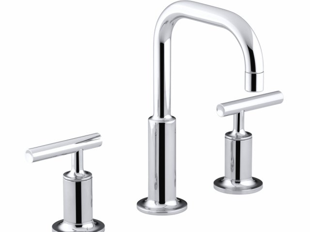 Purist Basin Set with Gooseneck Spout and Lever Handles