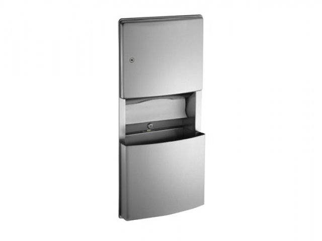 ASI Roval Recessed Paper Towel Dispenser & Waste Receptacle