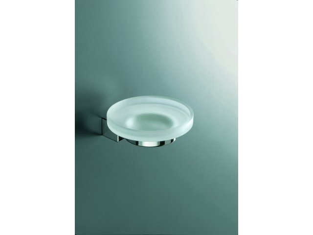 Logic Glass Dish and Holder (Frosted Glass)