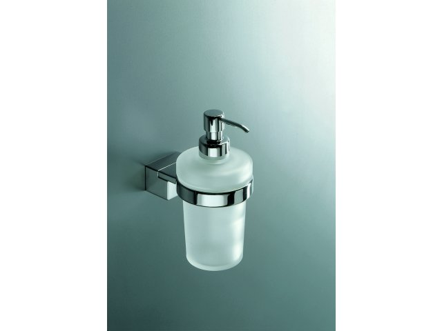 Logic Liquid Soap Dispenser and Holder (Frosted Glass)