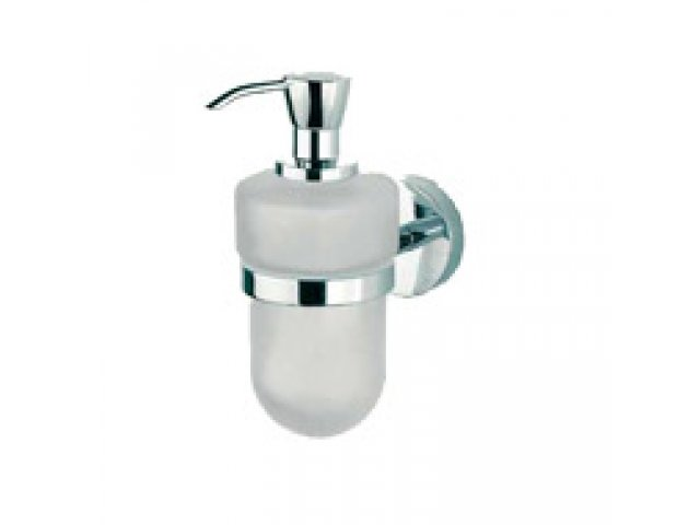 Forum Liquid Soap Dispenser and Holder (Sanded Glass)