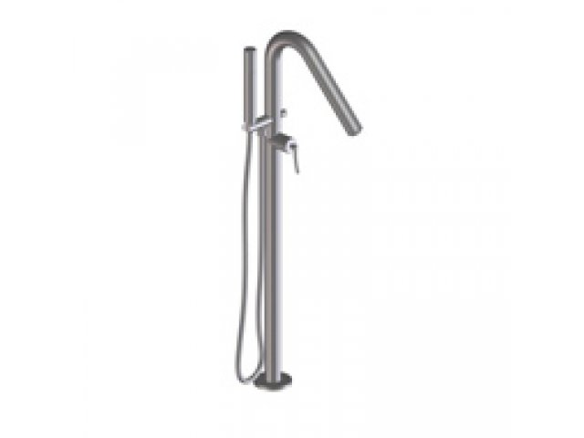 Floor Bath Spouts Floor-Mounted Bath Spout With Mixer and Handshower
