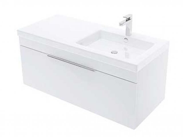 Adesso Urban Wall Hung Vanity 1000mm Off Set Right Basin