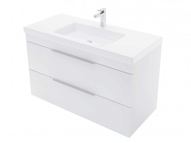 Adesso Urban Wall Hung Vanity 1000mm 2 Drawer Centre Basin