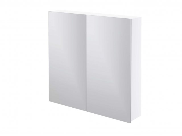 Adesso Mirror Cabinet 750mm Two Door White Gloss