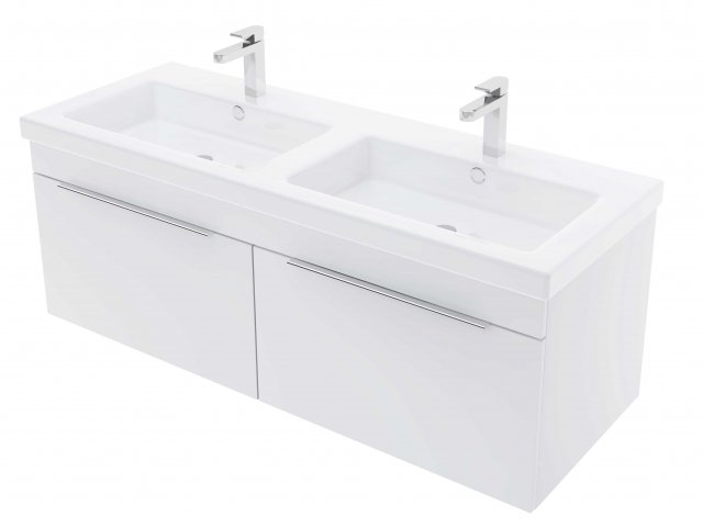 Adesso Urban Wall Hung Vanity 1200mm 2 Drawer Double Basin