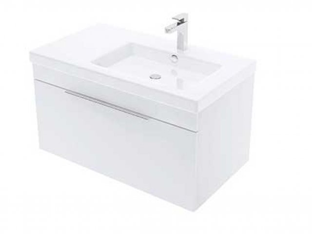 Adesso Urban Wall Hung Vanity 800mm Slim Offset Right Basin