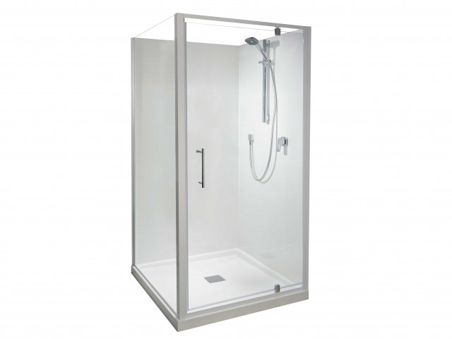 Athena Eclipse 2 Sided Square Flat Wall Shower 1000mm