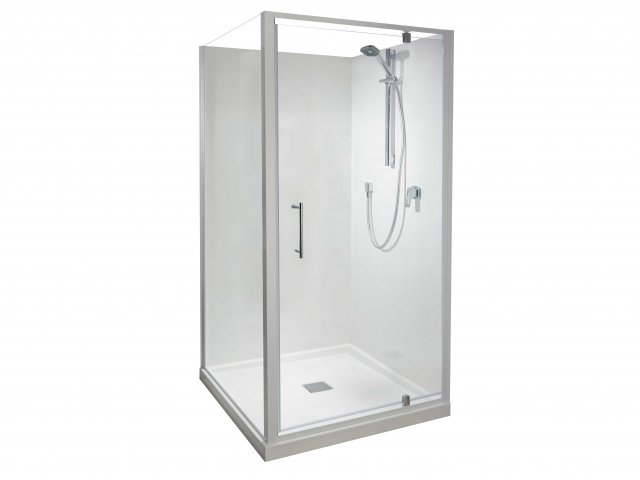 Athena Eclipse 2 Sided Square Flat Wall Shower 900mm