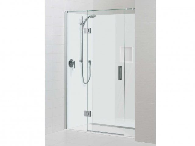 Atlantis Acura Alcove 3 Sided Shower Hinging Door White