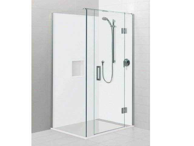 Atlantis Acura Rectangle 2 Sided Shower Hinging Door White