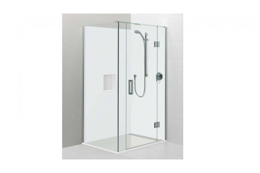 Atlantis Acura Square 2 Sided Shower Hinging Door White