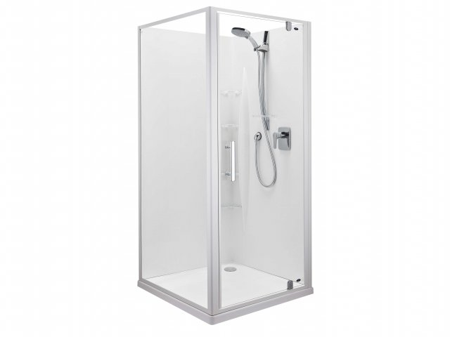 Englefield Ruby Corner Contour Wall Shower 1000mm