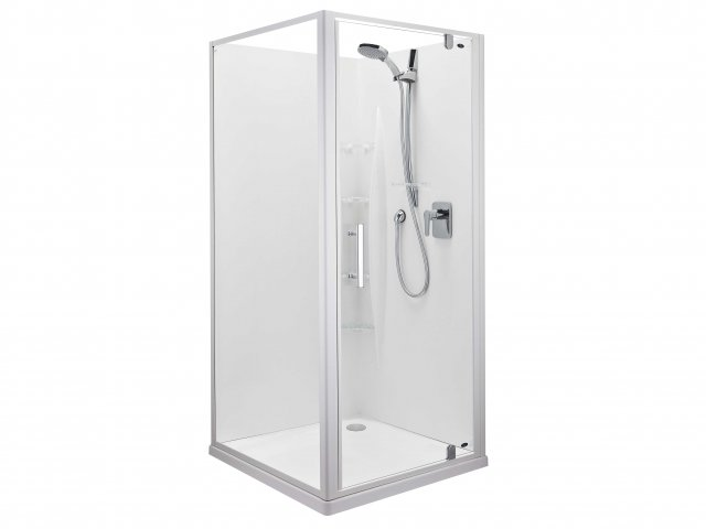 Englefield Ruby Corner Contour Wall Shower 900mm