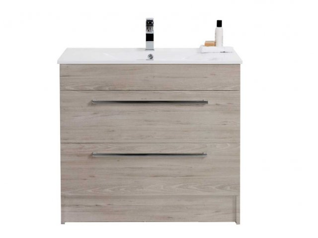 Raymor Boston Floorstanding Vanity 750mm White Gloss