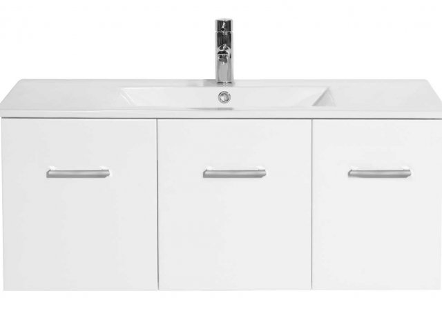 Raymor Boston Wall Hung Vanity 900mm White Gloss