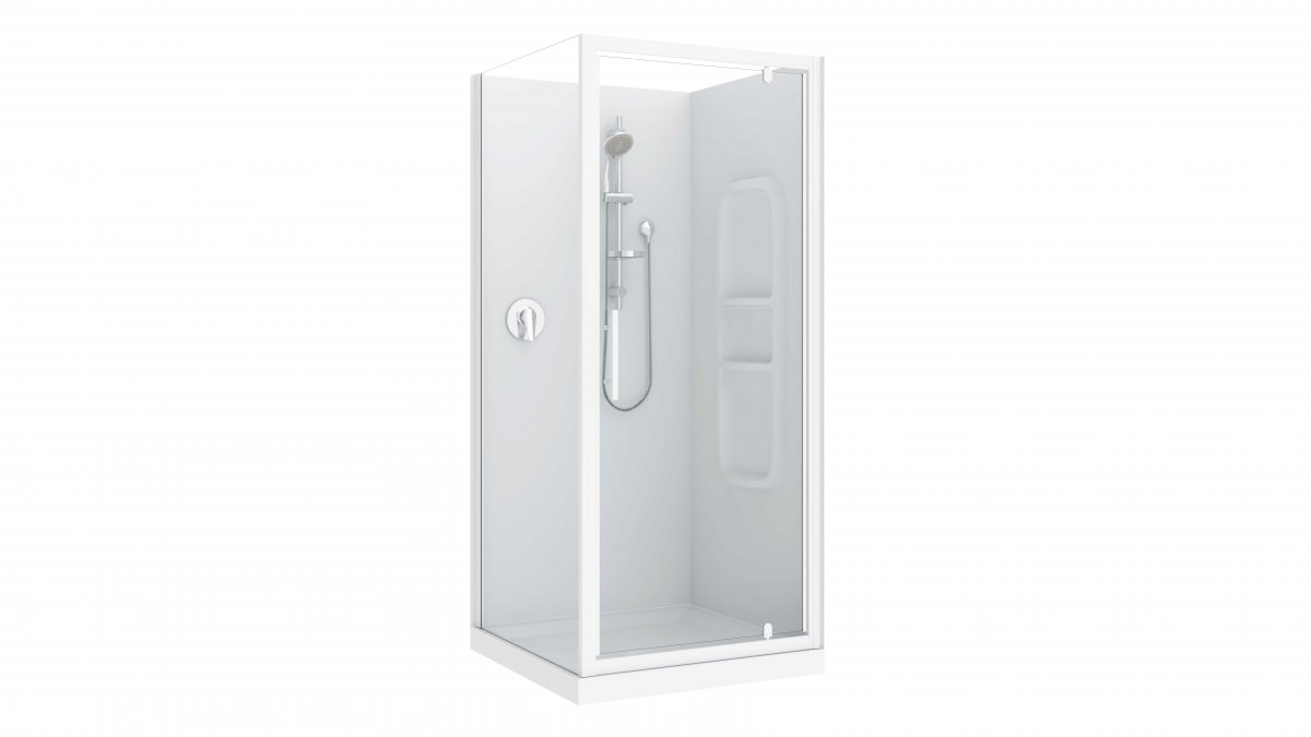 Raymor Brighton 3 Sided Flat Liner Shower 1000mm By Mico