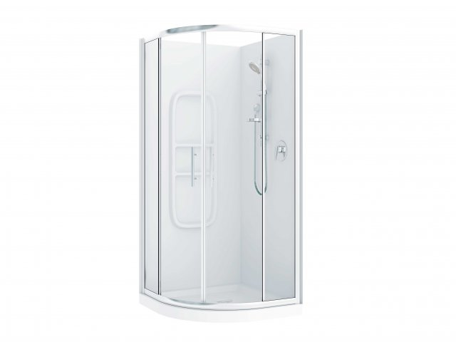 Raymor Brighton Curved Flat Liner Shower 1000mm