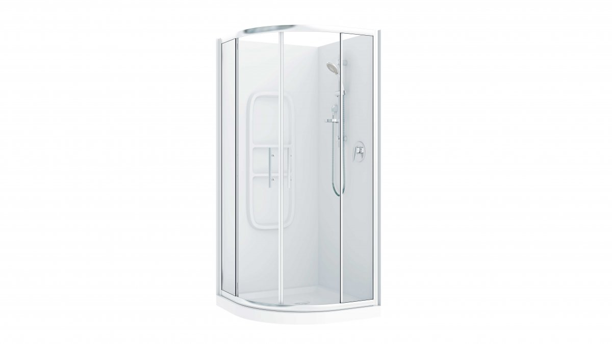 Raymor Brighton Curved Flat Liner Shower 1000mm By Mico