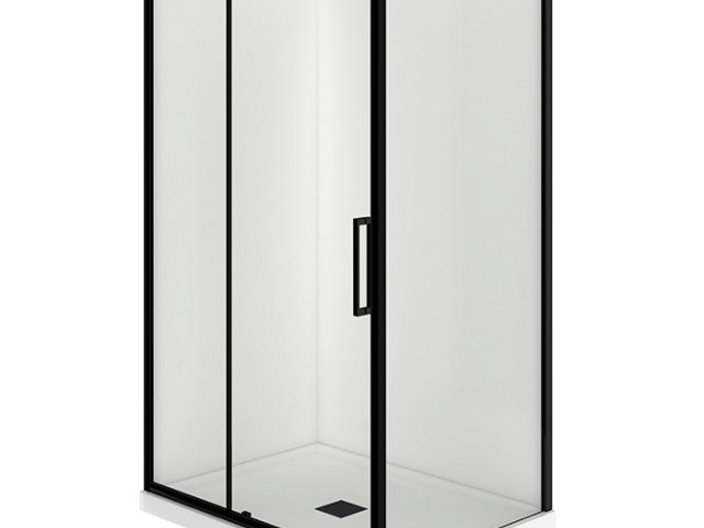 Evolve 1200x900 black shower enclosures