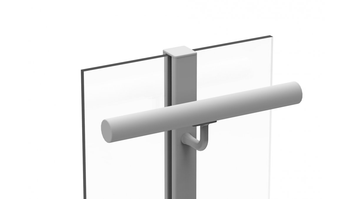 LRWN8 Side Fixed to Glazing Post Round Connector