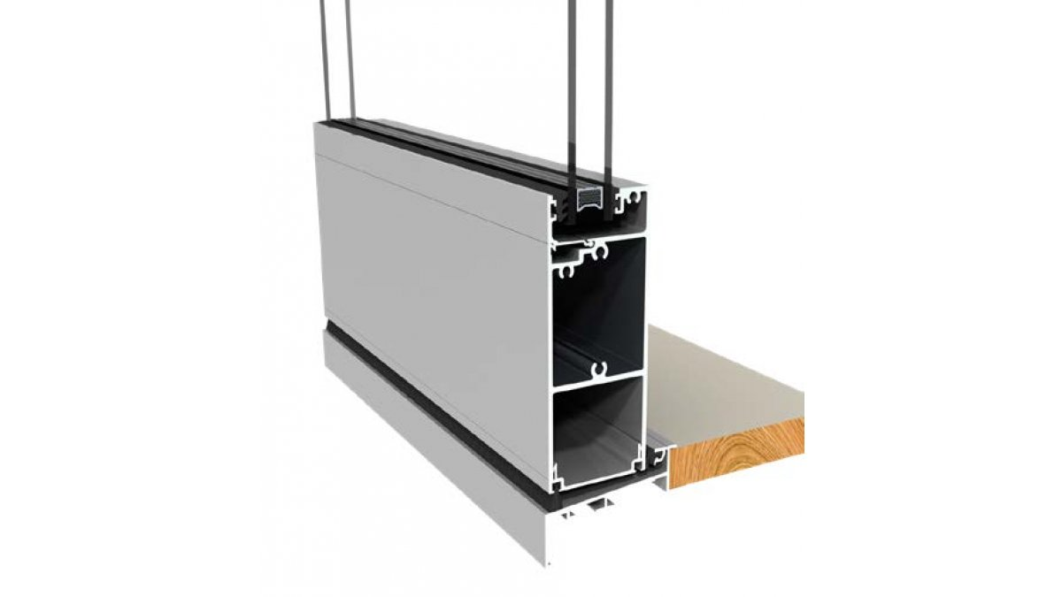 Magnum hinged door sill and rail low threshold option