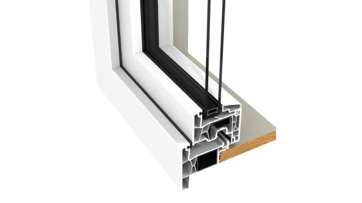 Tilt and turn frame and sash