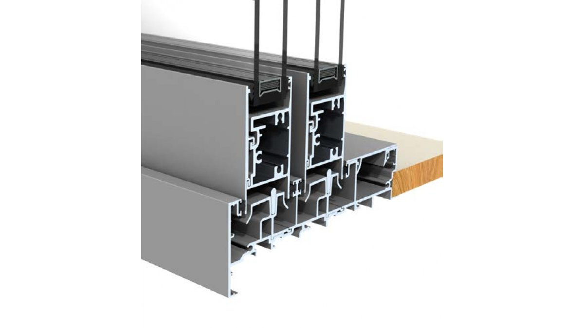 Double slider track and panel rails