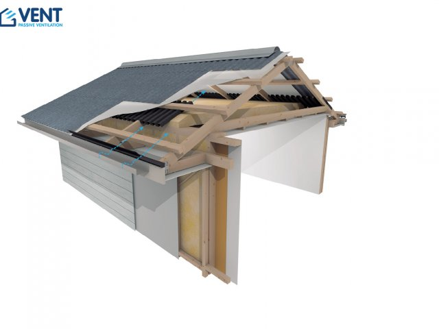 VENT Cold Roof Pitch 15°-30° Ventilation System