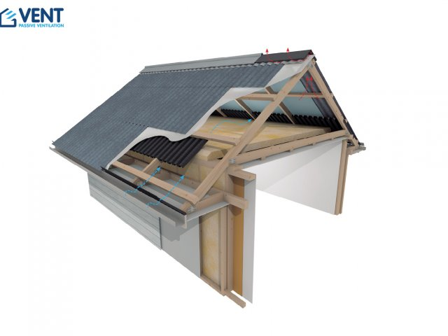 VENT Cold Roof Pitch >30° Ventilation System